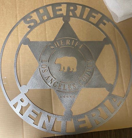 Sheriff Name Plate/Plaque *The County CAN be changed