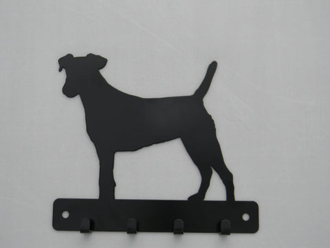 Terrier dog leash holder