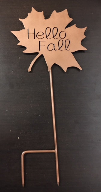 Hello Fall Leaf Sign