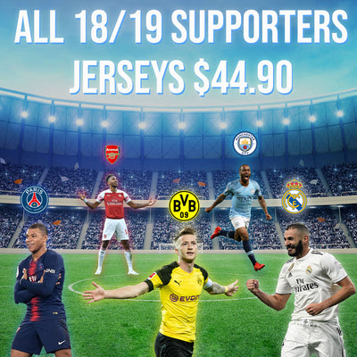 ALL 18/19 Supporters Jerseys Now $44.90