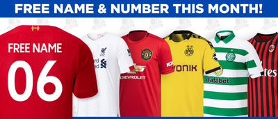 Free Personalisation on all 19/20 Supporters Jerseys!