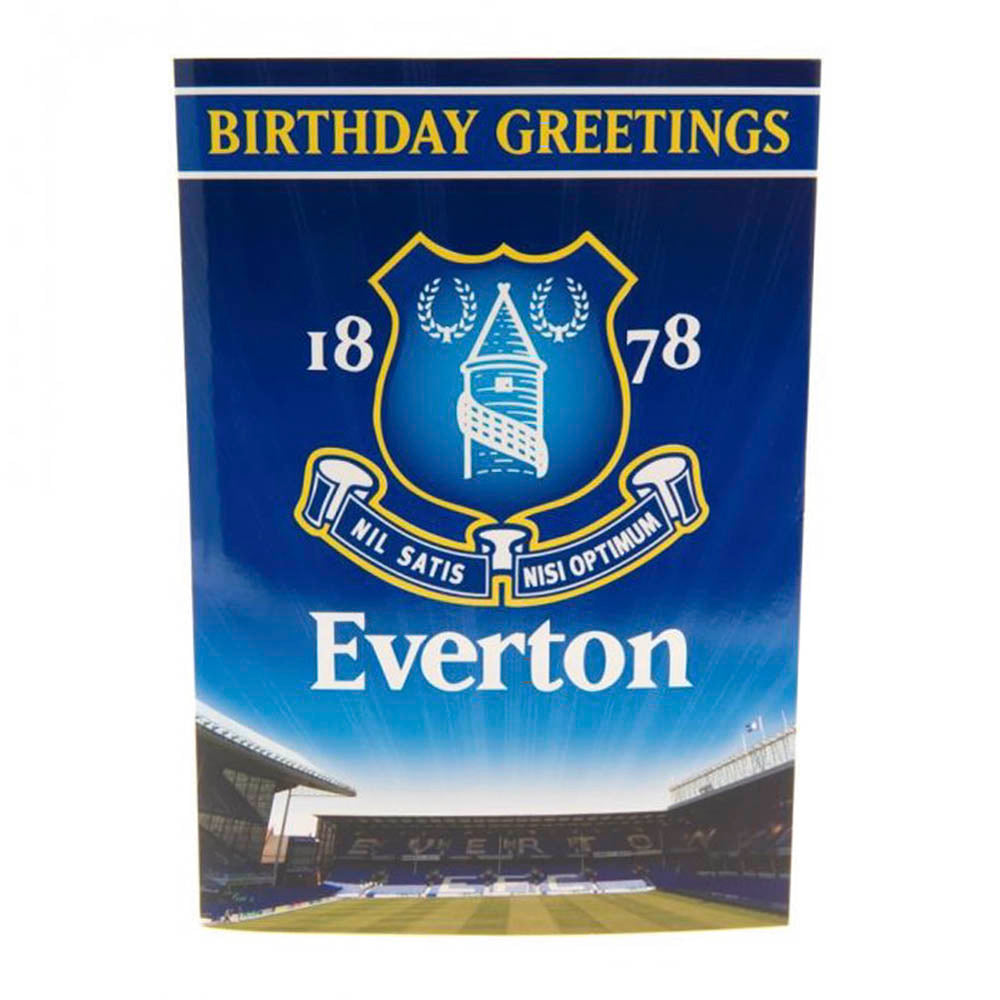 Everton Musical Birthday Card