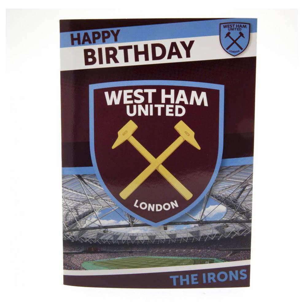 West Ham United Musical Birthday Card