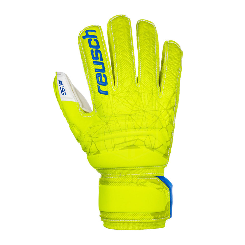 Reusch Fit Control SG Finger Support Junior GK Glove (Lime/Yell)