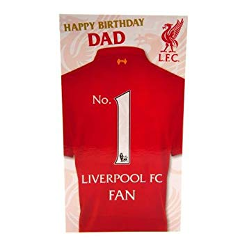 Liverpool birthday card dad