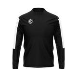 FC 1/4 Zip Microfleece - Black/White