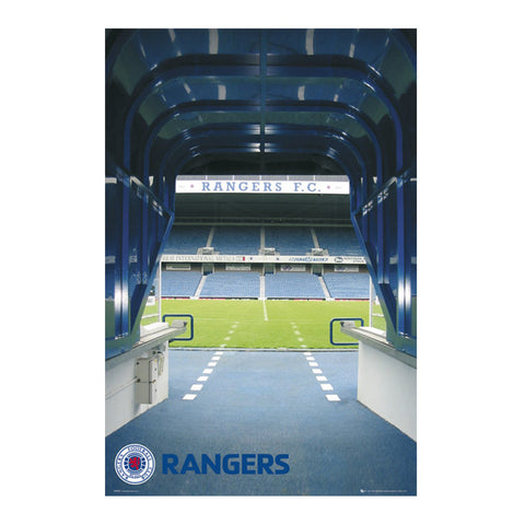 Glasgow Rangers Tunnel Poster