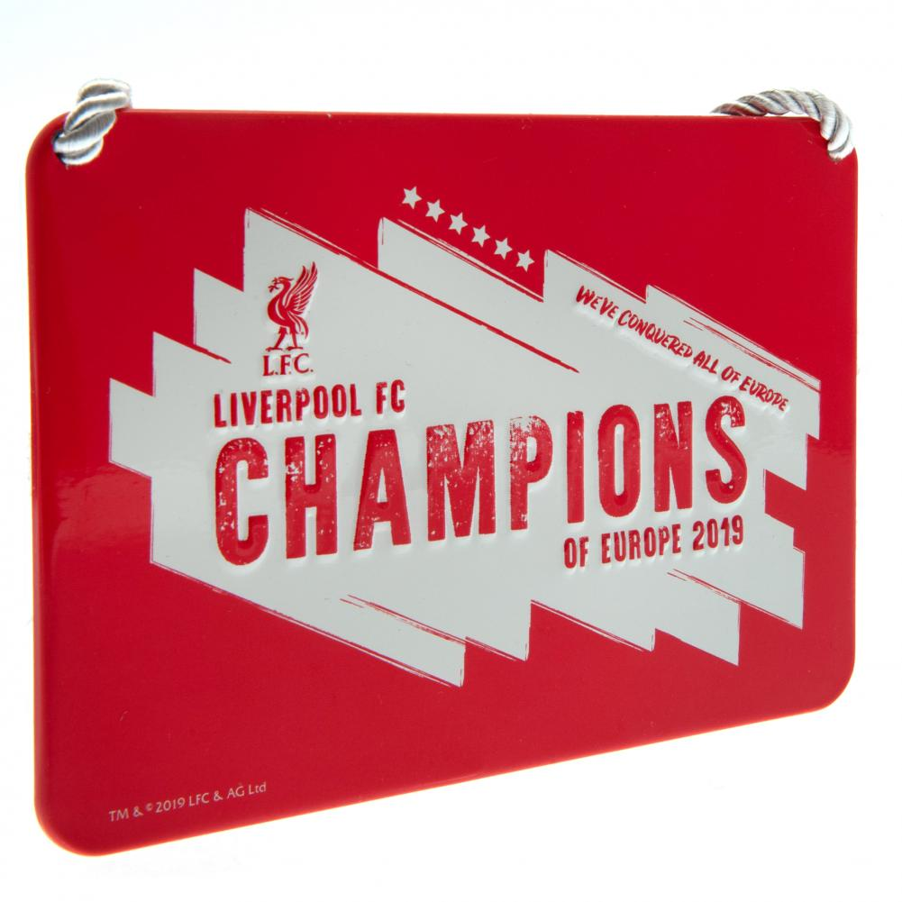 Liverpool Champions Of Europe Bedroom Sign