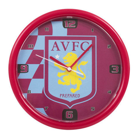Aston Villa Chequered Wall Clock