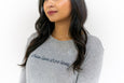 Super Soft Heather Grey Long Sleeve Tee with 'Show Love Share Love' on front.
