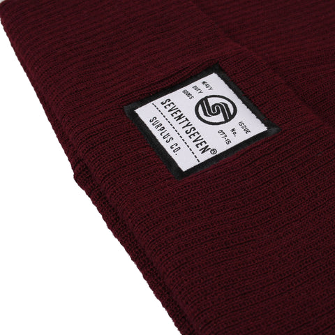 Surplus Co Beanie - Burgundy
