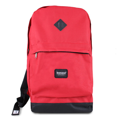 Day Pack Backpack - Red / Black