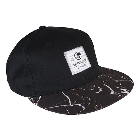 Graphic Snapback Cap - Black / Mineral