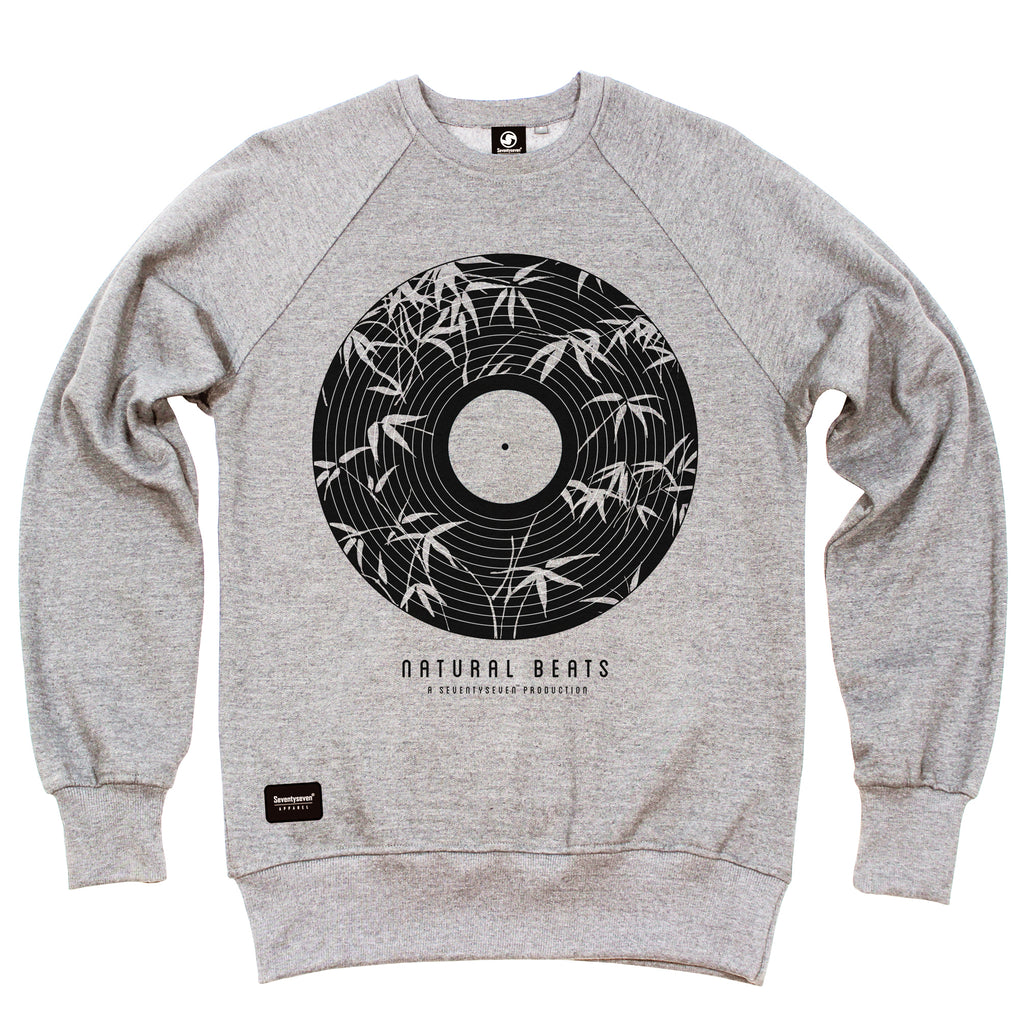 Natural Beats Crew Sweat - Heather Grey