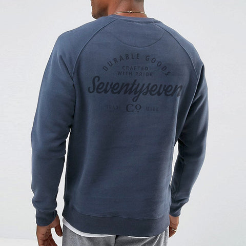 Durable Goods Crew Sweat - Vintaged Blue