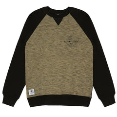 Focus Crew Sweat - Khaki / Black