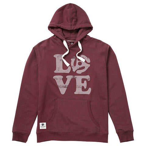 Love Vinyl Hooded Sweat - Wine Heather
