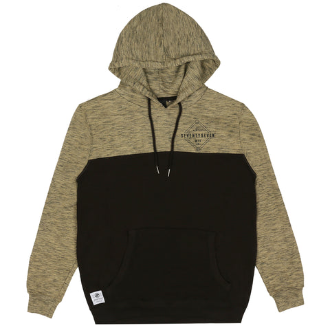Focus Pullover Hooded Sweat - Khaki / Black