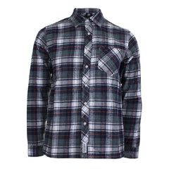 Flannel Long Sleeve Shirt - Navy / Grey