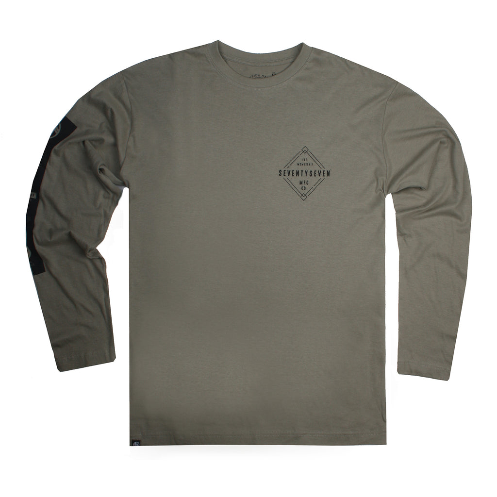Diamond long sleeve t-shirt - Khaki