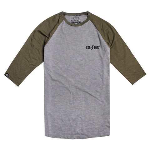 High Voltage Baseball t-shirt - Grey / Khaki Heather