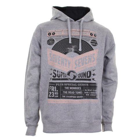 Gig Poster Pocketless Hoodie - Heather Grey