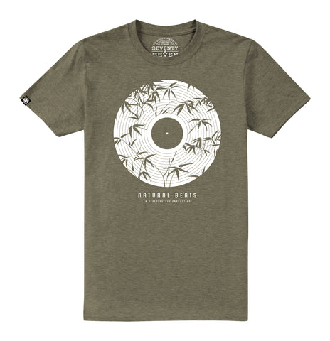 Natural Beats t-shirt - Khaki Heather