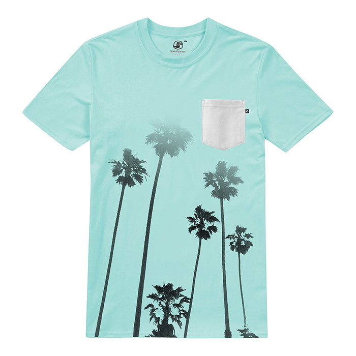 Cali-Palms Pocket t-shirt - Aruba Blue