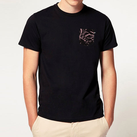 Botanical Pocket t-shirt - Black