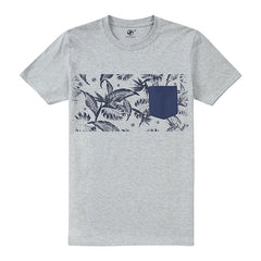 Tropical Band Pocket t-shirt - Grey Heather