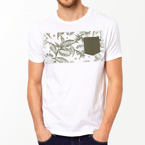 Tropical Band Pocket t-shirt - White