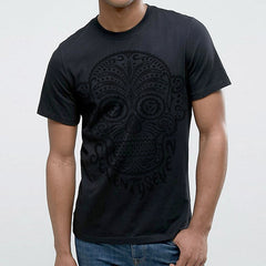 Candy Skull Monotone t-shirt - Black