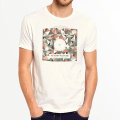 Geo Sleeve t-shirt - Vintage White