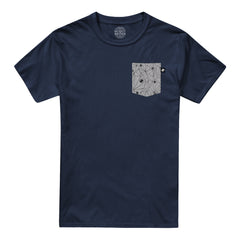 Geo Pocket t-shirt - Navy