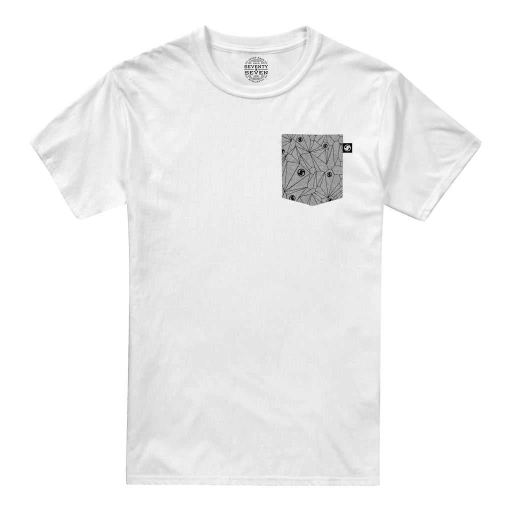 Geo Pocket t-shirt - White