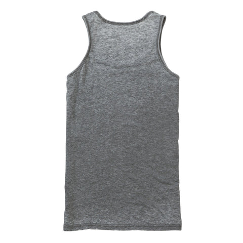 Good Vibes Burnout Vest - Charcoal