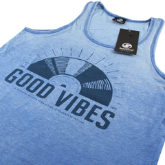 Good Vibes Burnout Vest - Denim