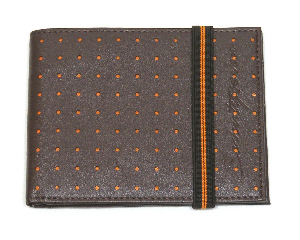 Perforated Wallet - Brown