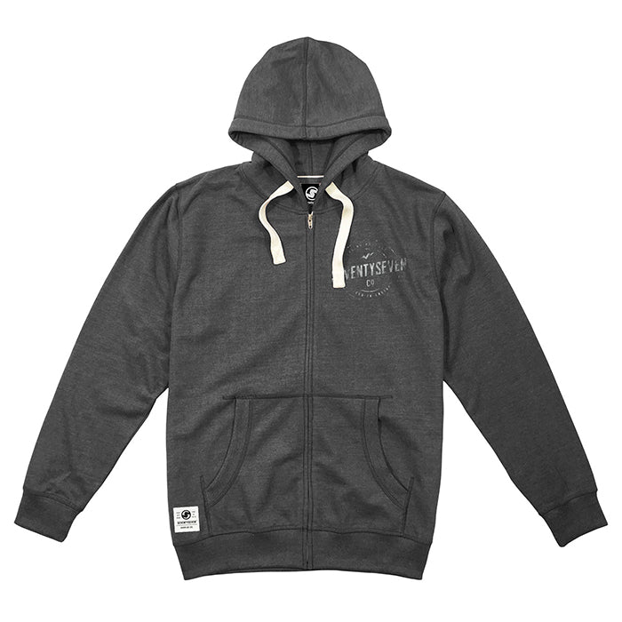 Genuine Zip Hooded Sweat - Dark Heather