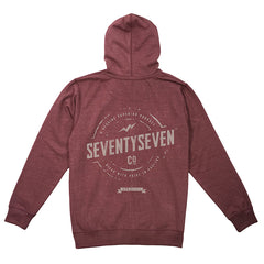 Genuine Zip Hooded Sweat - Wine Heather