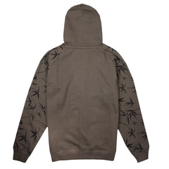 Bamboo - Full Zip Hoody - Dark Olive
