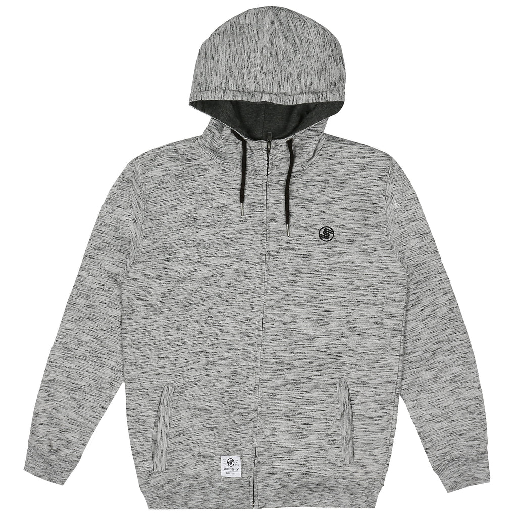 Logo Zip Hooded Sweat - Grey