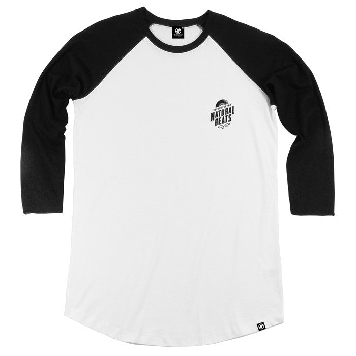 Natural Beats Baseball t-shirt - White/Black