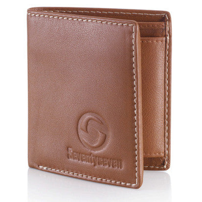Bi Fold Wallet - Tan Leather