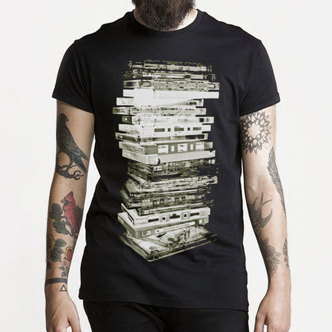 Cassette Stack t-shirt - Black