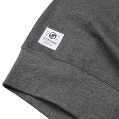 Genuine Contrast Sleeve Crew Sweat - Dark Heather/Black