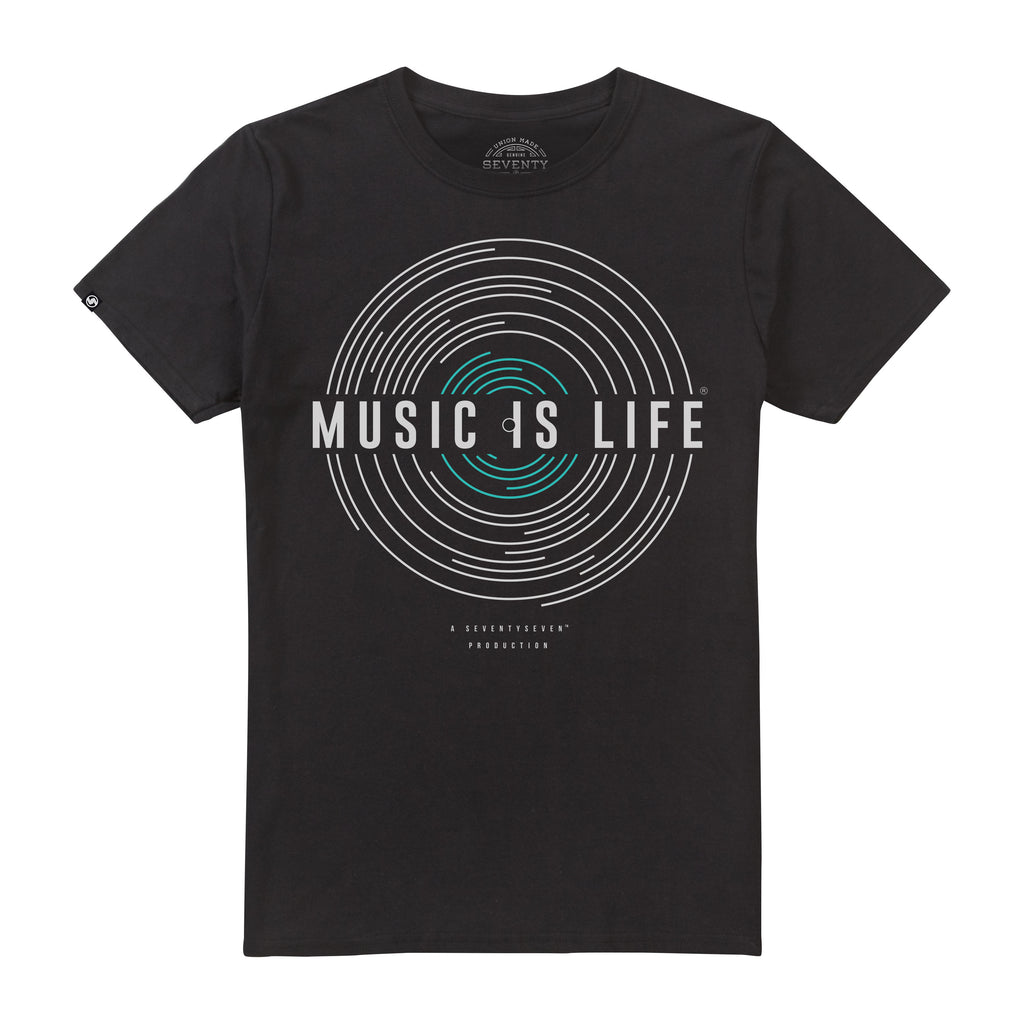 Music Is Life t-shirt - Black