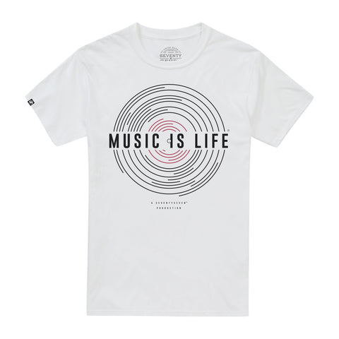 Music Is Life t-shirt - White