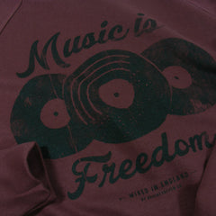 Music is Freedom Crew Sweat - Burgundy