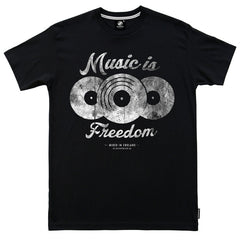 Music is Freedom t-shirt - Black